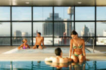 Indoor Highrise Pool & Spa - Meriton World Tower Apartments Hotel